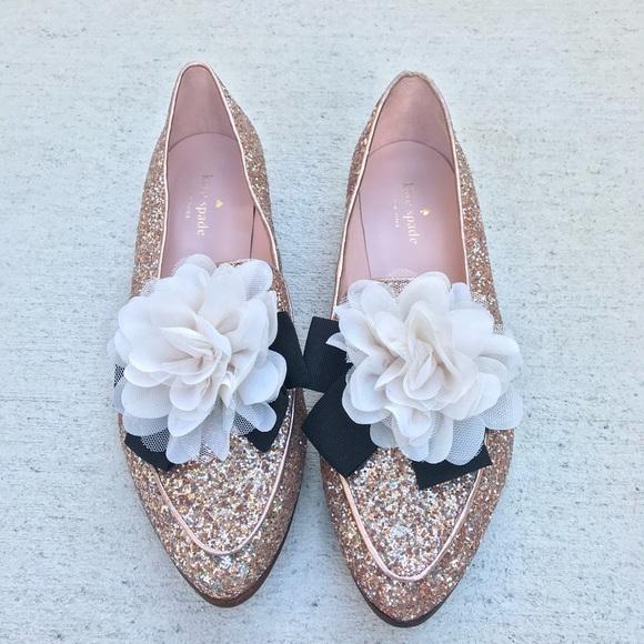 e95022088 kate spade Shoes - Kate Spade Cinda Rose Gold Flats 9